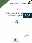 Principios de Fonética y Fonología Españolas Quilis