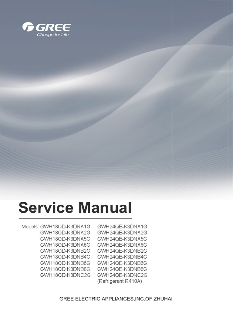 Service Manual LOMO 18 24K | Air Conditioning | Mechanical Fan