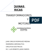 MAQUINAS ELECTRICAS(MOTORES Y TRANSFORMADORES)