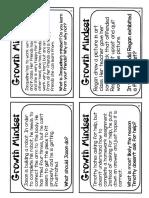 care for self - mindset task cards