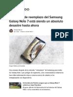 El Sistema de Reemplazo Del Samsung Galaxy Note 7 Está Siendo Un Absoluto Desastre Hasta Ahora