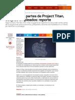 Apple Cierra Partes de Project Titan, Despide Empleados_ Reporte