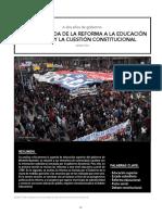 La Encrucijada de la reforma a la educación superior y la cuestipon constitucional