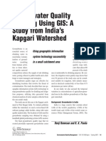 Groundwater Quality Mapping Using Gis