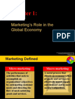 Chapter 1 - Marketing's Role in the Global Economy