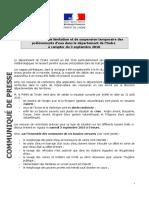 Usages de l'Eau Dans Le Département de l'Indre - Évolution Des Mesures de Restrictions 31 Août