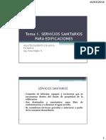 Tema 1. Servicios Sanitarios Para Edificaciones