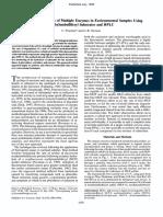 Simultaneous Analysis of Multiple Enzymes in Environmental Samples Using Methylumbelliferyl Substrates and HPLC