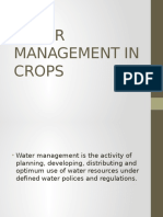 Water Management in Crops