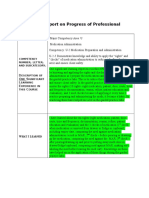 nfdn  1002 report on progress of professional portfolio
