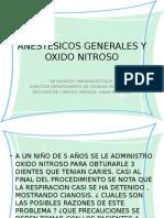Anestesicos Generales y Oxido Nitroso