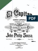 El Capitan Vocal Score