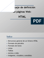 Diapositivas. Introducción a HTML