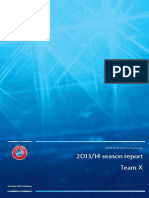 UEFA Elite Club Injury Study 2013-2014