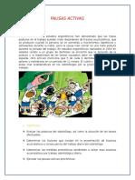 PAUSAS ACTIVAS - ergonomia dental