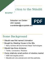 02_SCSC314 Introduction to the Stäubli RX60