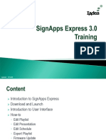 Software Training SignApps Express v3.0 2016-06-20