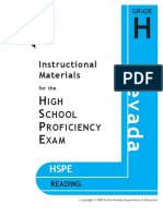 HS Reading Nevada HSPE Instructional Materials (2)