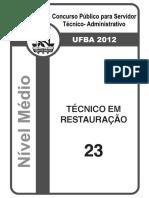2012-TecnicoEmRestauração