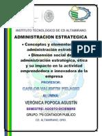 Investigación y Análisis de Conceptos y Elementos de La Administración Estratégica