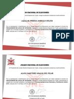 Certificados Segunda Vuelta