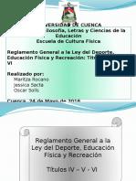 Reglamento Ley Del Deporte. Titulo 4 5 y 6