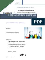 Informe 2 Obtencion Del Oxigeno 2016 (1)