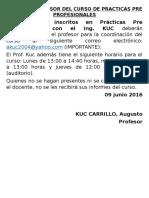 aviso KUC
