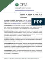 Canabidiol - Resolução CFM N. 2.113/2014
