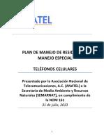Plan de Manejo - Teléfonos Celulares