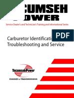 Tecumseh Carburetor Manual