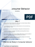 Consumer Behavior _ Intro