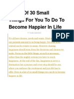 A List of 30 Small Things for You to Do to Become Happier in Life