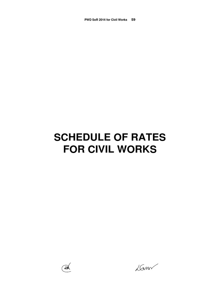 Pwd schedule of rates for civil works 20141pdf brick mortar pwd schedule of rates for civil works 20141pdf brick mortar masonry fandeluxe Image collections