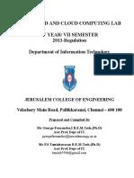 It6713 Grid & Cloud Computing Lab