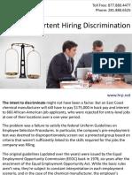 Avoid Inadvertent Hiring Discrimination