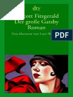F. Scott Fitzgerald Der Große Gatsby