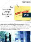 Retaliation Rule and Other Changes Coming from OSHA