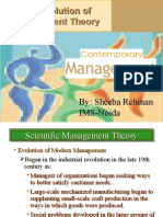 Theories of Management Principles