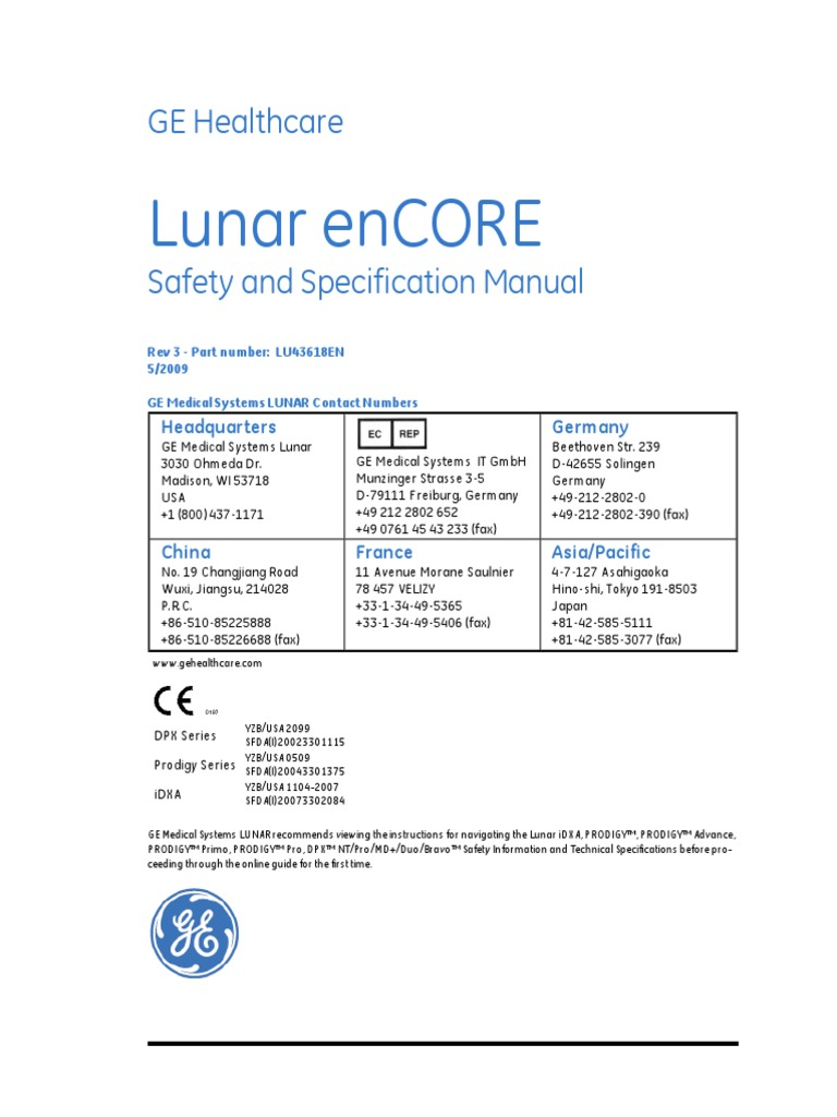 gehc site planning specifications safety and specifications pdf rh scribd com ge lunar prodigy service manual ge lunar prodigy user manual