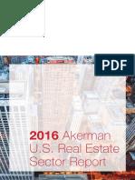2016 akerman realestate sector report
