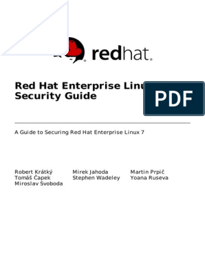 Red Hat Enterprise Linux 7 Security Guide en US | Red Hat