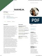 Shaloo Rakheja, PhD _ NYU Tandon School of Engineering