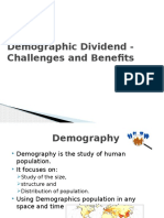 Demographic Dividend - Challenges and Benefits