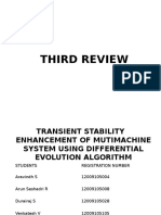 Transient Stability Improvement Differential Evolution