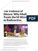 The Violence of Silence_ Why Modi Treats the M-Word as Radioactive - The Wire
