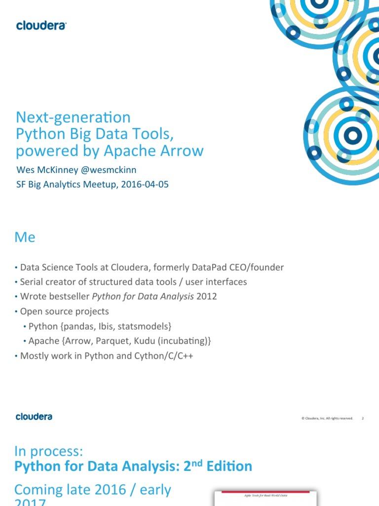 Next-generation Python Big Data Tools, Powered by Apache