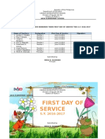 First Day Service
