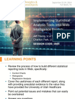 Implementing Statistical Analysis Tools Into SAP BusinessObjects Web Intelligence Reports