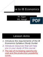 Introduction to Economics IB + PPF